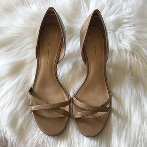 Aerin Cocobay Nude Heels Pumps Shoes Sz 7.5